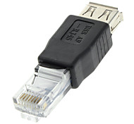 cheap -USB 2.0 Female to RJ45 Male Adapter Black for Ethernet