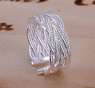 cheap -Women's Alloy Cuff Ring / Band Ring - Jewelry Open / Fashion / Adjustable Silver Ring For Party / Daily / Casual