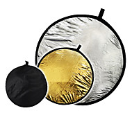"""32 """"2 in1 серебро золотой диск складной отражатель 80 см"""