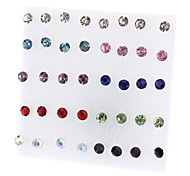 cheap -Women's Rhinestone 40PCS Stud Earrings - Fashion Simple Style Red / White Jewelry Earrings For Party Daily Casual Office & Career