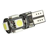 Merdia T10 White 5050 SMD 5 LED Canbus Error Free Car LED Light Bulb (Pair)-LEDD004JMA5S1