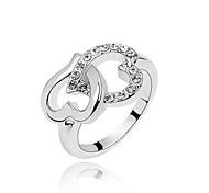 Anéis Diário Jóias Cristal / Liga Feminino Anéis Grossos9 Branco / Vermelho / Azul
