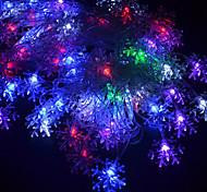 preiswerte -20-led 4 mt wasserdicht eu-stecker im freien urlaub dekoration blume rgb licht led string licht (220 v)