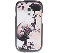 cheap -Growing Flower Skull Pattern Hard Back Case Cover for Samsung Galaxy S3 Mini I8190