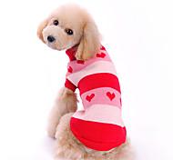 Cane Maglioni Abbigliamento per cani Romantico Cuori Rosso Costume Per animali domestici