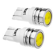 cheap -2 Pcs T10 1.5W 194 501 158 168 W5W SMD 90-110LM 6000-6500K Cool White Light LED Car Tail Wedge Light (DC12V)