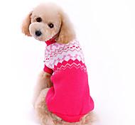 Недорогие -Собака Свитера Одежда для собак Очаровательный Мода Бант Розовый Костюм Для домашних животных