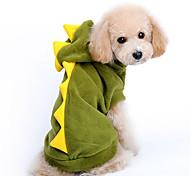 Cane Costumi Felpe con cappuccio Abbigliamento per cani Romantico Cosplay Cartoni animati Rosso Verde Costume Per animali domestici
