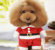 cheap -Dog Costume Dog Clothes Cartoon Red Cotton Costume For Pets Men's Women's Cute Cosplay Christmas