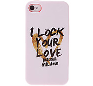 Love Character Pattern White Smooth Anti-shock Case for iPhone 4/4S