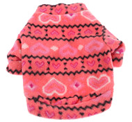 Dog Sweatshirt Rose Dog Clothes Winter Spring/Fall Hearts Casual/Daily Keep Warm