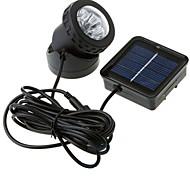 6-lumière LED blanche LED lumière solaire imperméable à l'eau de jardin en plein air lampe d'inondation