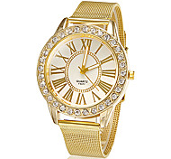 cheap -Women's Quartz Wrist Watch Rhinestone Imitation Diamond Alloy Band Flower Sparkle Dress Watch Fashion Gold