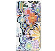 Pour Coque LG Portefeuille Porte Carte Avec Support Clapet Coque Coque Intégrale Coque Fleur Dur Cuir PU pour LG LG Nexus 5