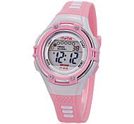Kinder Sportuhr Armbanduhr Modeuhr Quartz LCD Silikon Band Freizeit Schwarz Weiß Rosa