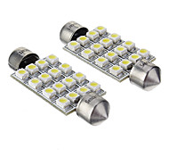cheap -42mm Car Light Bulbs W SMD 3528 lm 16 LED Accessories ForGeneral Motors