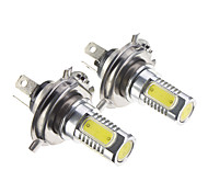 2 pcs H4 7.5W Cool White Car LED Headlight 12-30V Replacement LED Headlamp Bulb Kit