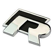 Недорогие -RT Металл R стикер