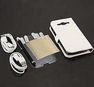 Para Carteira / Porta-Cartão / Com Suporte / Flip Capinha Corpo Inteiro Capinha Cor Única Rígida Couro PU Samsung S3