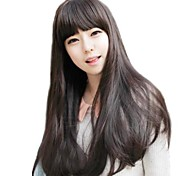 Curly Wave Lady Synthetic Long Full Bang Wig Heat Resistant Fiber Cheap Cosplay Party Wig Hair