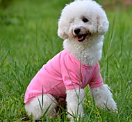 Dog Shirt / T-Shirt Dog Clothes Solid Yellow Red Green Blue Pink Costume For Pets