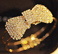 Full Crystal Bowknot Bangle Bracelet Christmas Gifts