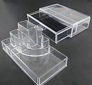 Недорогие -акриловая прозрачная комплекс комбинированный двойной слой хранения косметики с ящиком косметической организатора