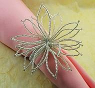 Прекрасный бисера Цветок Салфетка кольцо, Стекло Beades, 4,5 см, набор из 12,