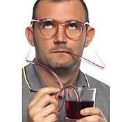 Сумасшедшие Fun очки соломинкой, W18cm х L15cm х H3cm