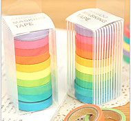 cheap -Colorful Rainbow Design Tapes(Set Of 10) For School / Office