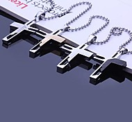 cheap -Personalized Gift Necklaces Stainless Steel Men's Business Classic Lovers Holiday Gift