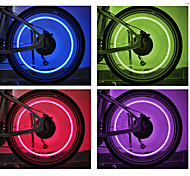 cheap -Bike Lights Wheel Lights Valve Cap Flashing Lights LED Cycling Cell Batteries Lumens Battery Cycling/Bike - FJQXZ