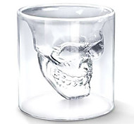 cheap -Cool Transparent Creative Scary Skull Head Design Novelty Drinkware Wine Shot Glass Cup 75ML