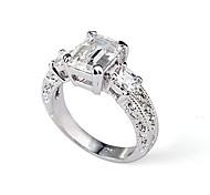 прямоугольник изумрудный cut cz zircon обручальное кольцо элегантный стиль