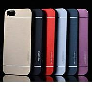 Für iPhone 5 Hülle Stoßresistent Hülle Rückseitenabdeckung Hülle Einheitliche Farbe Hart PC iPhone SE/5s/5