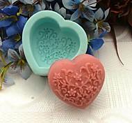 Недорогие -1pc экологически чистый для пирога / для печенья силиконовой формы для выпечки формы сердца