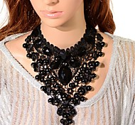 cheap -Women's Tower Crystal Choker Necklace Pendant Necklace Chain Necklace  -  Black Necklace For Party