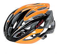 FJQXZ Ultralight 26 Vents PC+EPS Orange Cycling Helmet