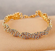 cheap -Korean Delicate Claw Chain Crystals Bracelet