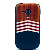 cheap -Wooden Triangle Printing Pattern Hard Case for Samsung Galaxy S3 Mini I8190