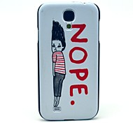 Nope Boy Pattern Plastic Protective Back Cover for Samsung Galaxy S4 I9500