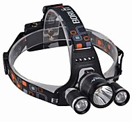 Headlamps LED 3000 Lumens 4 Mode Cree XM-L T6 18650 Impact Resistant Rechargeable Waterproof Camping/Hiking/Caving Everyday Use