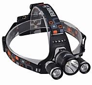 Налобные фонари LED 3000 Люмен 4.0 Режим Cree XM-L T6 Батарейки не входят в комплект Ударопрочный Перезаряжаемый Водонепроницаемый для