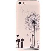 Dandelion and Lovers Pattern PC  Hard Case for iPhone 5/5S iPhone Cases
