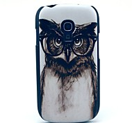 cheap -For Samsung Galaxy Case Pattern Case Back Cover Case Owl PC Samsung S3 Mini
