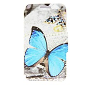 For Nokia Case Card Holder / Flip Case Full Body Case Butterfly Hard PU Leather Nokia Nokia Lumia 630 / Nokia Lumia 625