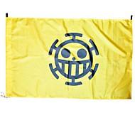 Больше аксессуаров Вдохновлен One Piece Косплей Аниме Косплэй аксессуары Флаг Желтый Терилен Мужской