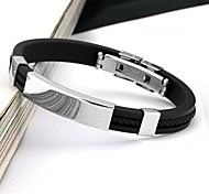 cheap -Men's Cuff Bracelet Personalized Fashion Stainless Steel Circle Jewelry Daily Casual Sports Costume Jewelry Black