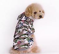 Dog Hoodie Green Dog Clothes Winter / Spring/Fall Camouflage Fashion / Sports