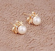 Women's Stud Earrings Pearl Alloy Jewelry For Wedding Party Daily Casual
